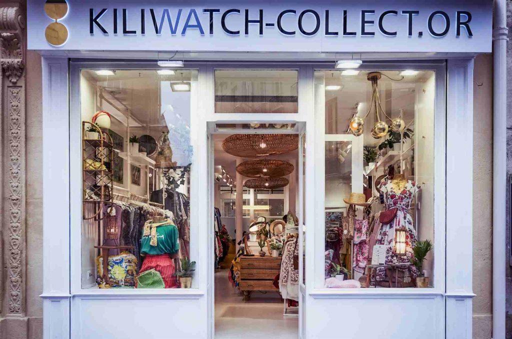 vetrina del negozio kiliwatch di parigi