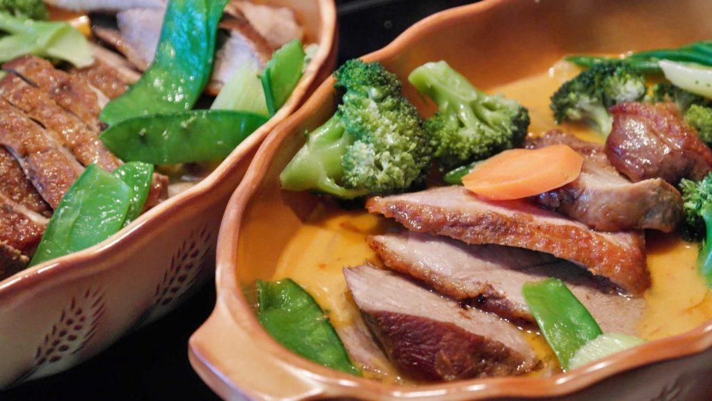 piatto di antra con broccoli.