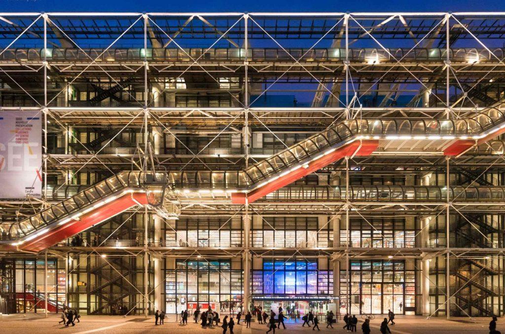 facciatadel centre pompidou di Parigi