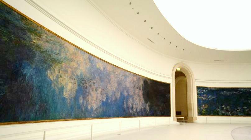 Ninfee di Monet nel museo dell'Orangerie