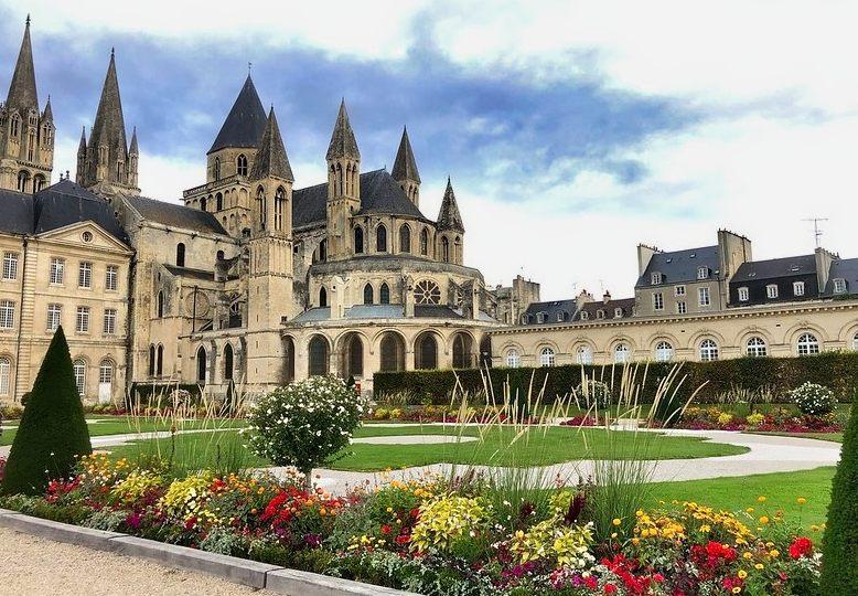 veduta dell'abbazia degli uomini di Caen