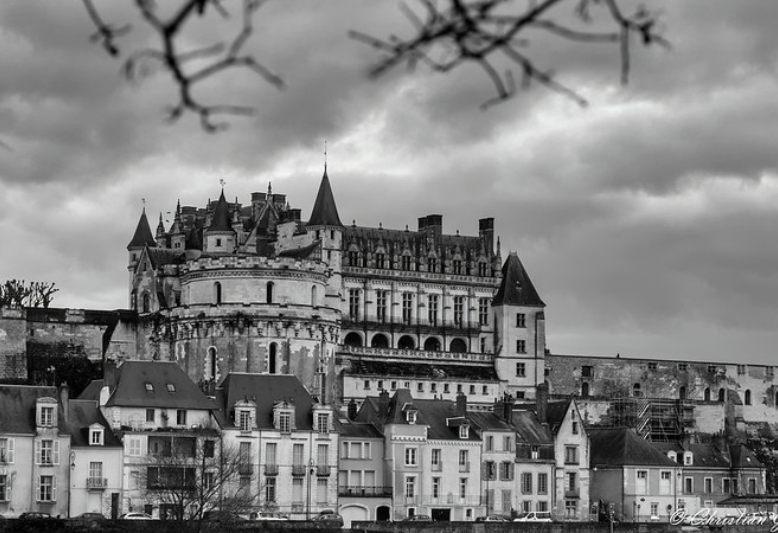 veduta panoramica del castello amboise