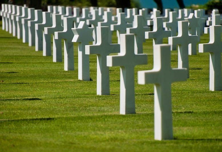 croci bianche del cimitero americano di colleville sur mer
