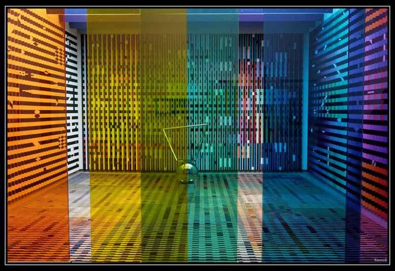 installazione colorata centre pompidou