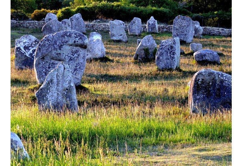 veduta di alcune pietre allineate a carnac