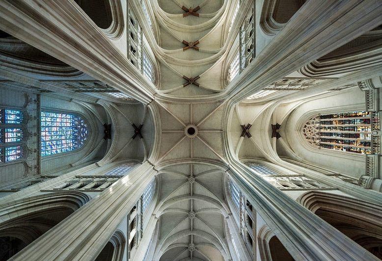 soffitto della cattedrale di Nantes