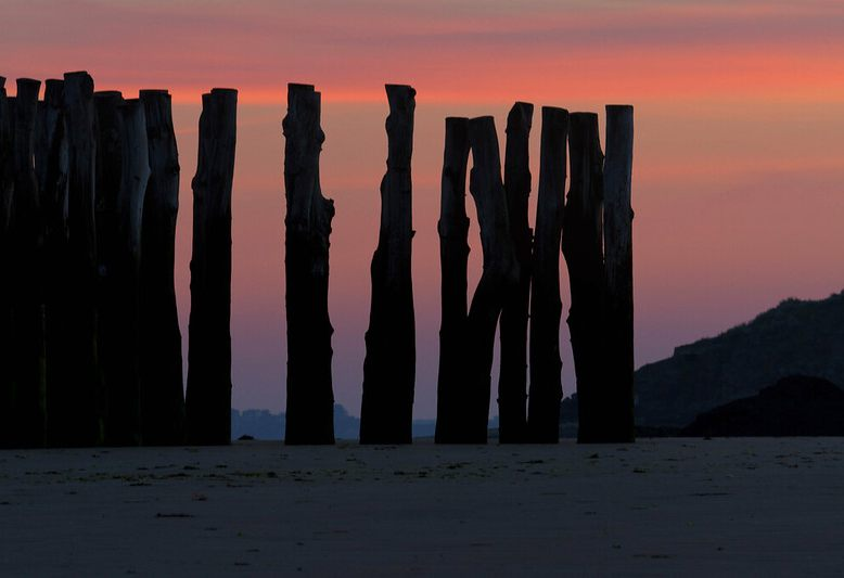 frangiflutti nella spiaggia di Saint Malo in Bretagna