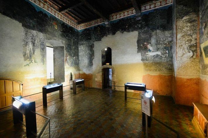 decorazione interna del palazzo dei papi ad Avignone